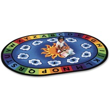 CPT 9495 Carpets for Kids Sunny Day Learn/Play Oval Rug CPT9495