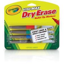 CYO 988901 Crayola Visi-Max Dry Erase Markers CYO988901