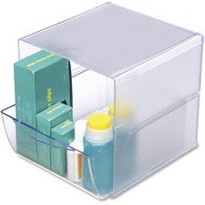 DEF 350801 Deflecto Stackable Plastic Desktop Cube  DEF350801