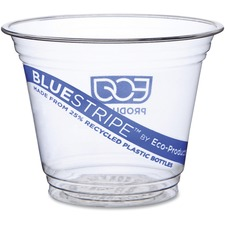 ECO EPCR9 Eco-Products BlueStripe Cold Cups ECOEPCR9