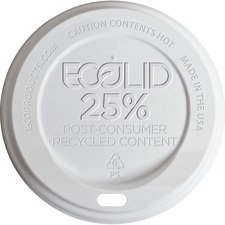 ECO EPHL16WR Eco-Products Evolution World Hot Cup Lids ECOEPHL16WR