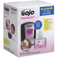 GOJ 1312D1 GOJO LTX-7 Dispenser Plum Foam Soap Starter Kit GOJ1312D1