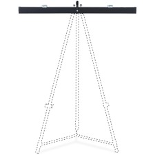 "Lorell Telescoping Easel Pad Holder - 27.9"" Length - Aluminum - Black"