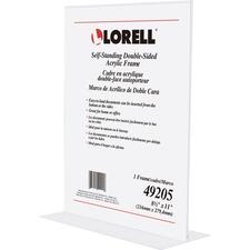 LLR49205 - Lorell Double-sided Acrylic Frame