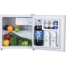 Lorell 1.6 cu.ft. Compact Refrigerator - 45.31 L - Manual Defrost - Reversible - 1.60 L Net Refrigerator Capacity - White - Steel, Plastic, Fiberglass
