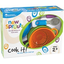 LRN LER9257 Learning Res. New Sprouts Cook It Play Chef Set LRNLER9257