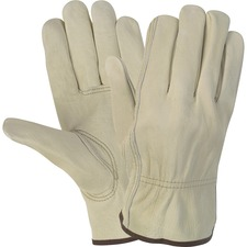 MCS CRW3215L MCR Safety Durable Cowhide Leather Work Gloves MCSCRW3215L