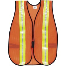 MCS CRWV201R MCR Safety Reflective Fluorescent Safety Vest MCSCRWV201R