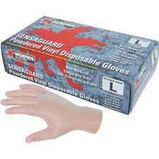 MCS MPG5020L MCR Safety Powdered Vinyl Disposable Gloves MCSMPG5020L