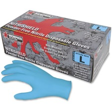 MCS MPG6015L MCR Safety Disposable Powder Free Nitrile Gloves MCSMPG6015L