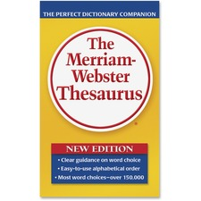 Merriam-Webster Paperback Thesaurus Printed Book - Book - English