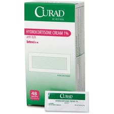 MII CUR015408Z Medline Curad Hydrocortisone Cream 1 Pct Packets MIICUR015408Z