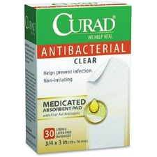MII CUR44255 Medline Curad Antibacterial Clear Bandages MIICUR44255