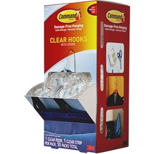 MMM 17091CLRCABP 3M Command Medium Clear Hooks MMM17091CLRCABP