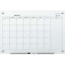 QRT GC4836F Quartet Infinity Magnetic Glass Calendar Board QRTGC4836F