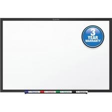 "Quartet® Standard Whiteboard, 24"" x 18"", Black Aluminum Frame"
