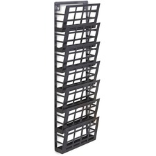 SAF 4662BL Safco 7-pocket Grid Magazine Rack SAF4662BL