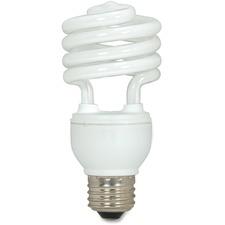Satco 18-watt T2 Spiral CFL Bulb 3-pack - 18 W - 120 V AC - Spiral - T2 Size - Soft White Light Color - E26 Base - 12000 Hour - 4400.3°F (2426.8°C) Color Temperature - 82 CRI - Energy Saver