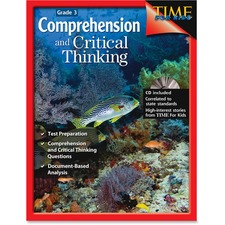 Shell Comprehension and Critical Thinking: Grade 3 Education Printed/Electronic Book by Greathouse Lisa. - English - Book, CD - 112 Pages
