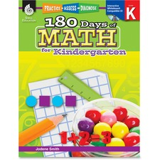 SHL 50803 Shell Education 180 Days of Math for Kndrgrtn Book SHL50803