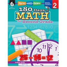 SHL 50805 Shell Education 180 Days of Math for 2nd Grd Book SHL50805