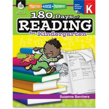 SHL 50921 Shell Education 180 Days Reading for Kndrgrtn Book SHL50921