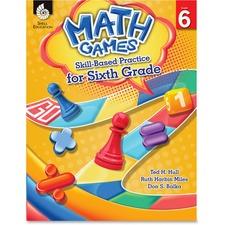 SHL 51293 Shell Education Math Games: Skill Practice 6 Grade SHL51293