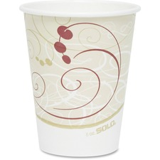 SCC 378SMJ8000PK Solo Cup Single-sided Poly Hot Cups SCC378SMJ8000PK