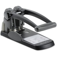 """Swingline High Capacity 2-hole Punch - 2 Punch Head(s) - 300 Sheet - 9/32"""" Punch Size - Black, Gray"""