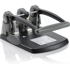 """Swingline Extra-High Capacity 3-Hole Punch - Fixed Centers - 3 Punch Head(s) - 300 Sheet - 9/32"""" Punch Size - Black, Gray"""