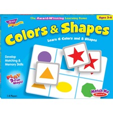 TEP 58103 Trend Colors/Shapes Match Me Learning Game TEP58103