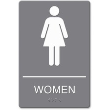 USS 4816 U.S. Stamp & Sign ADA Women Restroom Sign w Symbol USS4816