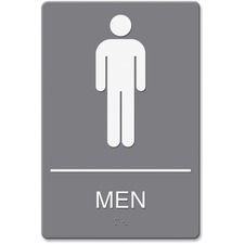 USS 4817 U.S. Stamp & Sign ADA Men's Restroom Sign w Symbol USS4817
