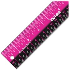 Victor Stainless Steel Dual Color Easy Read Ruler