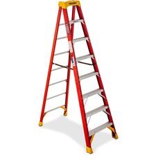 WER 6208 R D Werner Fiberglass 8' Step Ladder  WER6208