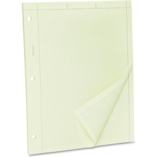 TOP 22142 Tops Green Tint Engineer's Quadrille Pad TOP22142