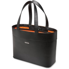 """Kensington Jacqueline 62614 Carrying Case (Tote) for 12"""" to 15.6"""" Notebook - Black - Drop Resistant - Faux Leather - Handle - 13.78"""" (350 mm) Height x 19.69"""" (500 mm) Width x 12.60"""" (320 mm) Depth - 1 Pack - Retail"""
