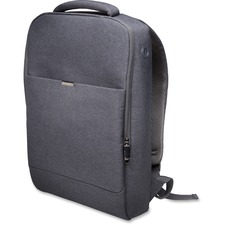 "Kensington 62622 Carrying Case (Backpack) for 15.6"" Notebook - Cool Gray - Shoulder Strap - 16.50"" (419.10 mm) Height x 11"" (279.40 mm) Width x 4.50"" (114.30 mm) Depth"