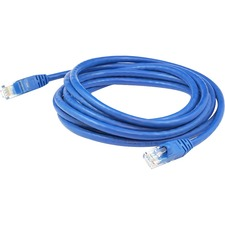 AddOn 10 pack of 100ft Blue Molded Snagless Cat6A Patch Cable