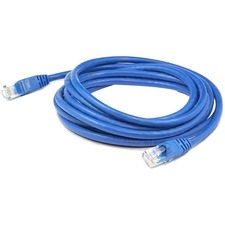 AddOn 10 pack of 10ft Blue Molded Snagless Cat6A Patch Cable