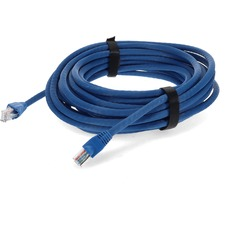 AddOn 10 pack of 30ft Blue Molded Snagless Cat6A Patch Cable