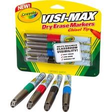 CYO 988902 Crayola Visi-Max Dry Erase Markers CYO988902