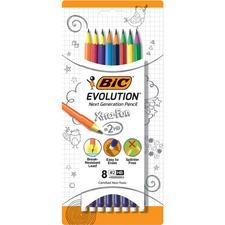 BIC Extra Fun HB Pencils - #2 Lead - Assorted Barrel - 8 / Pack