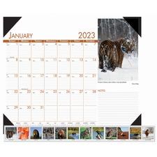 HOD 172 Doolittle Earthscapes Wildlife Monthly Desk Pad HOD172