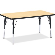 "Berries Ht Maple Top Blk Edge Rect. Table - Rectangle Top - 36"" Table Top Length x 24\"" Table Top W"
