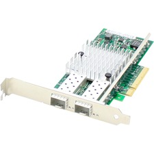 AddOn QLogic QLE8362-SR-CK Comparable 10Gbs Dual Open SFP+ Port PCIe x8 Network Interface Card with Transceivers