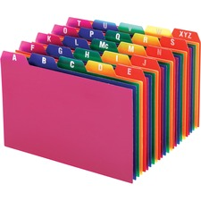 OXF 73154 Oxford A-Z Poly Filing Index Cards OXF73154