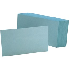 OXF 7320BLU Oxford Colored Blank Index Cards OXF7320BLU