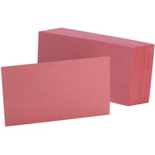 OXF 7320CHE Oxford Colored Blank Index Cards OXF7320CHE