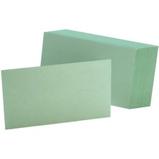 OXF 7320GRE Oxford Colored Blank Index Cards OXF7320GRE